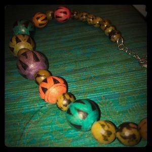 Multicolor Boho Wood?/Bone?/Nut? Beaded Necklace